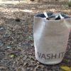 ダイソーのランドリーバッグがキャンプで活躍!