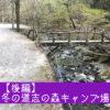 【後編】冬の道志の森キャンプ場、春の嵐でタープが飛ばされる!