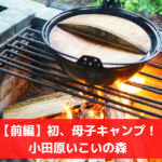 【前編】初めての母子キャンプ|小田原いこいの森のバンガローで、薪料理!?
