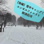 【後編】雪ががっつり積もった!エンゼルフォレスト那須白河キャンプ場